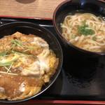 麺や ほり野 - かつ丼Bセット830円