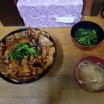98519835 - 豚丼(大) with みそ汁&漬物?