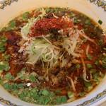 雲林坊 - 汁あり坦々麺と小麻婆豆腐かけご飯セット1,250円の汁あり坦々麺のアップ