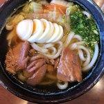 正八郎うどん - 煮鶏玉子うどん490円