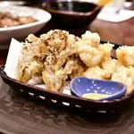 芋蔵 - 白子と舞茸の天麩羅@850円