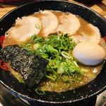 がむしゃら - 魚介とんこつ   特性半熟味玉トッピング!
