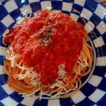 ザ ロケット カフェ - ツナとチーズのトマトソースパスタ
