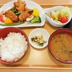 ココス - 鶏唐揚げと野菜の甘酢あんかけ膳 990円+税 2018/09
