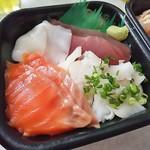 北海丼丸 - 連れの白いどん丸丼