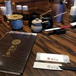 勝烈亭 - テーブル