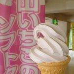 黒部ダムレストハウス - 山いちごのソフトクリーム