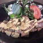 鉄板焼肉 誠屋 - 牛肉のチーズ挟み焼