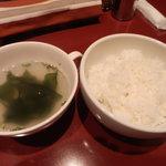 9856922 - 「ライス(スープ付き)(並)」(200円)です