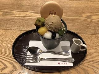 京都 つる家 茶房 ヒルトンプラザイースト店 - パフェ 972円