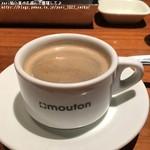 mouton valcitta - 食後のコーヒー+110円