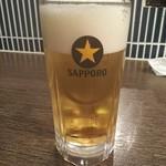 だんまや水産 - 生ビール ※2杯目(2018.12.15)