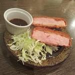 だんまや水産 - 厚切りハムカツ(2018.12.15)