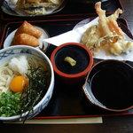 9857104 - ぶっかけうどんの天ぷらセット780円