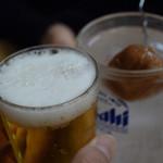 やまだや - ドリンク写真:瓶ビールと梅サワーで乾杯♪