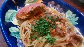 pizzeria felice - セイコ蟹のトマトソーススパゲッティー