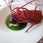 カーヴ ド ヴァン 柿さか - 鮑と伊勢海老の蒸し物