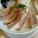 麺縁 ジョウモン - 豚しおチャーシュー大盛り。