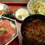 9859406 - ミニ丼(鮪)とかけそば(冷)のセット(800円)
