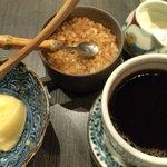 9859408 - デザートの柚アイスとコーヒー
