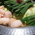 Aburishimizu - お目当てのモツ鍋!盛り盛り!
