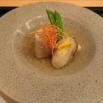馬車道 大かわ - 牡蠣、海老芋、蕪