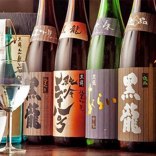 福井の銘酒「黒龍」はフルラインナップで!飲み放題も充実◎