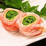 ニラチーズ豚巻き串