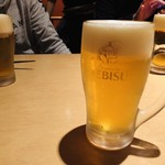 串焼とこころ 克 - 生ビール