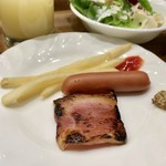 グリルアンドバーポルコピアット - 朝食(\1,300) 焼き目しっかりのベーコン