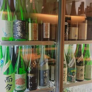 日本酒約70種以上!