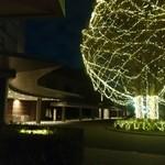 ラウンジ ダコタ - 夜の ホテル前