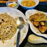 まんぷく処 暖家 - 焼飯と酢豚のセット