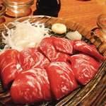 東京焼酎&梅酒bar GEN&MATERIAL - 馬刺し