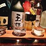東京焼酎&梅酒bar GEN&MATERIAL - 麦焼酎  3種