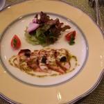 ボヌール - 料理写真:オードブル タコの薄切りマリネ ソースヴェール