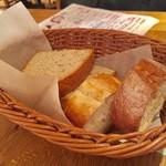 表参道ワイン食堂Den - お通しのパン