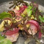 Restaurant MAEKAWA - 関サバ サラダ仕立て マヨネーズ・タプナード