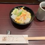 天ぷら ひさご - サラダはゴマドレッシング