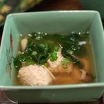 和食 しょっぽり - 2018.12 つくねのキノコ餡かけ