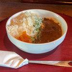 博多 柚づ庵 - セットのカレーライス。ラーメンの後に食べると更に美味い。