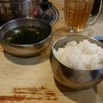 98633633 - 固めの美味しいお米でした!