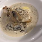鉄板焼 なにわ - 鯛のホワイトソースがけ、マッシュドポテト添え