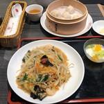 上海湯包小館 - 五目バリそばセット 1,290円、小籠湯包 3個→5個に変更 210円