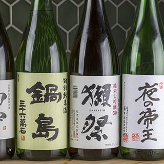 全国から厳選した多彩な日本酒を取り揃えております◎