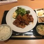 トサ ダイニング おきゃく - 四万十ポーク米豚の生姜焼き御膳(1200円)
