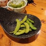 鳥酎 - 熱々枝豆