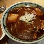 蕎麦・酒・料理 壱 - カレー南蛮蕎麦(上から)(2018.11)
