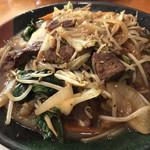 ポリネシアン - 料理写真:レバー野菜炒め