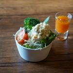 カウベルカフェ - 料理写真:オリジナル薬膳カレー大盛り サラダ